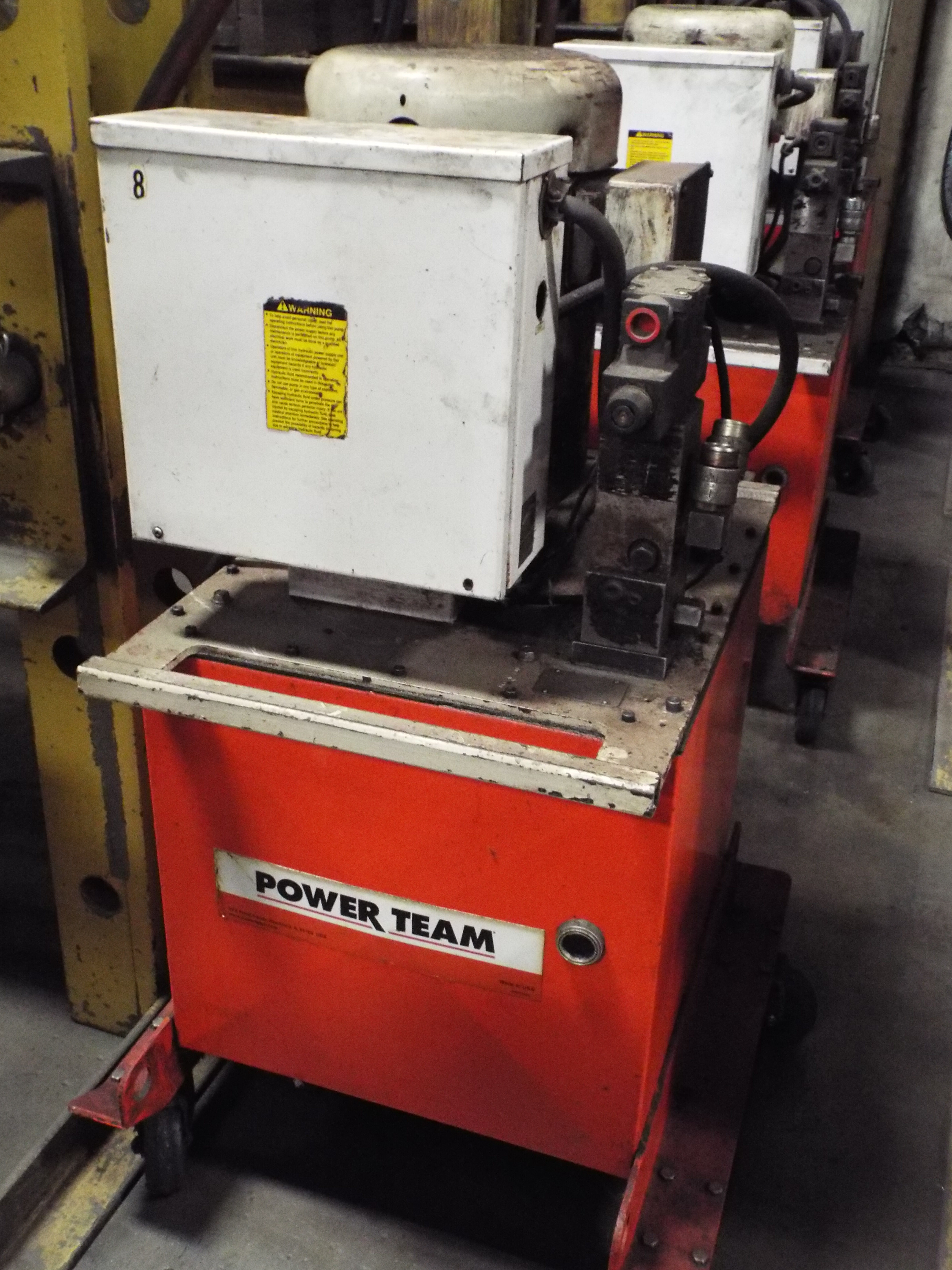 Lot 54 - ENERPAC IPH10030 HYDRAULIC H-FRAME PRESSES WITH 100 TON CAPACITY, SPX POWERTEAM 10 HP HYDRAULIC