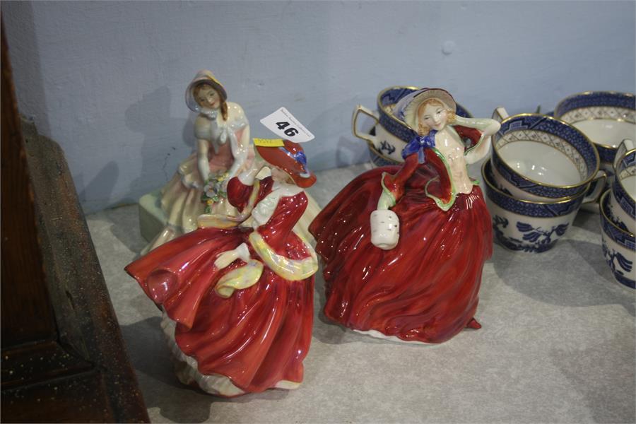 Lot 46 - Three Royal Doulton figures