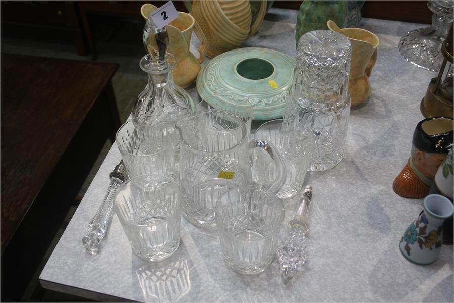 Lot 2 - Assorted cut glass