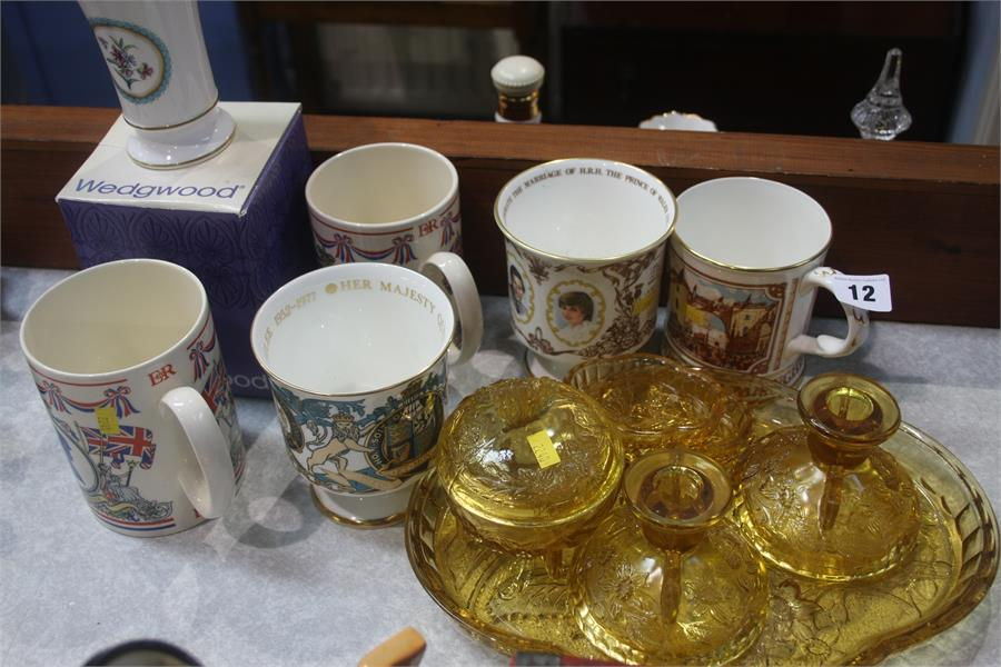 Lot 12 - Various commemorative mugs etc.