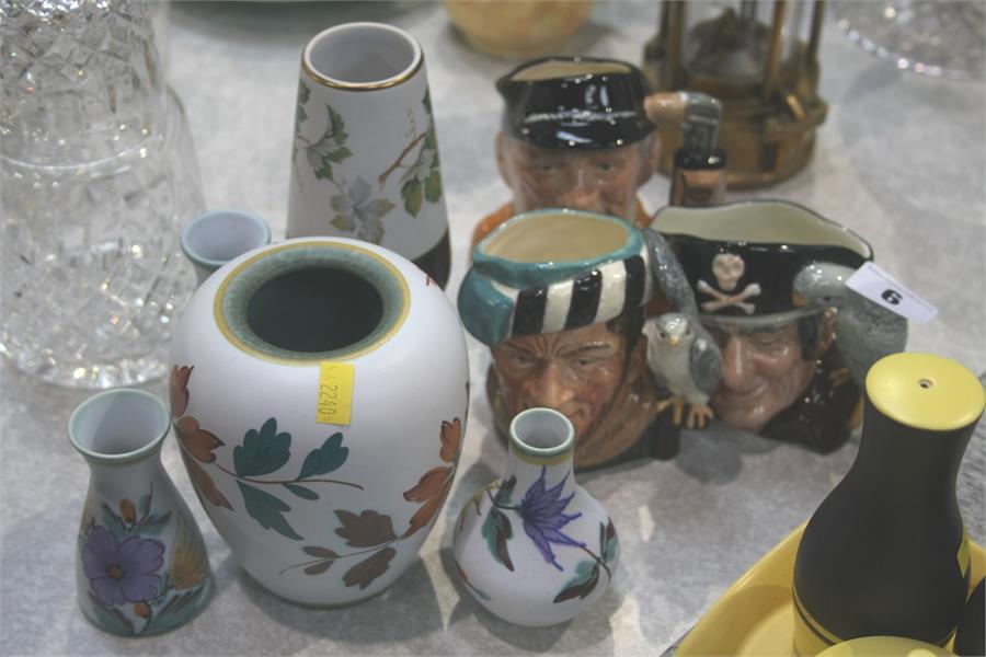 Lot 6 - Three Royal Doulton Toby jugs and assorted Radford