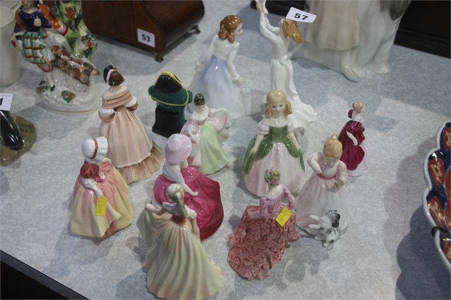 Lot 57 - Collection of twelve Royal Doulton and other figur