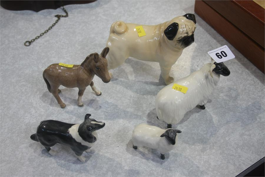 Lot 60 - Five various Beswick animals
