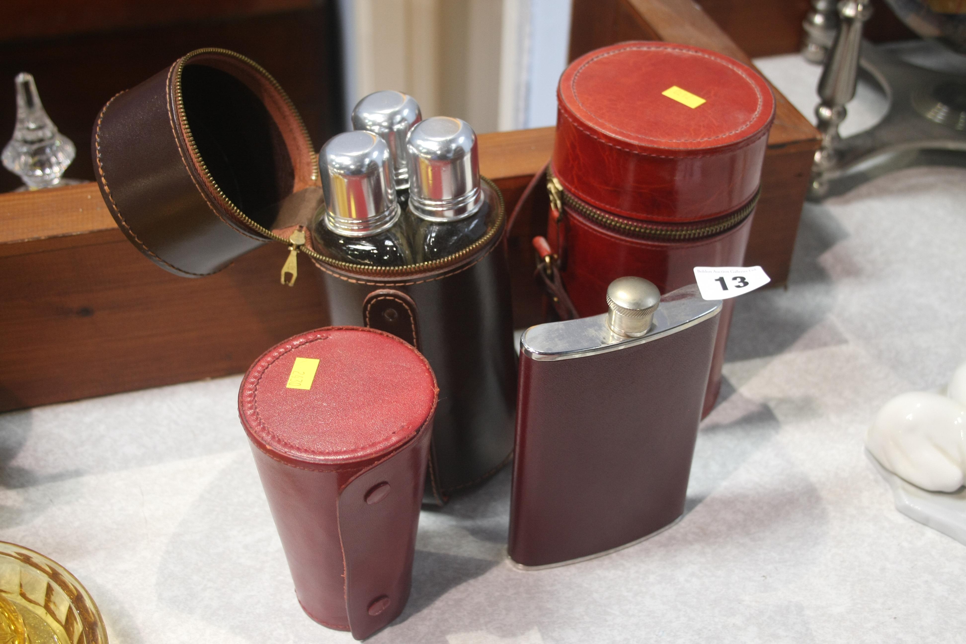 Lot 13 - Various flasks