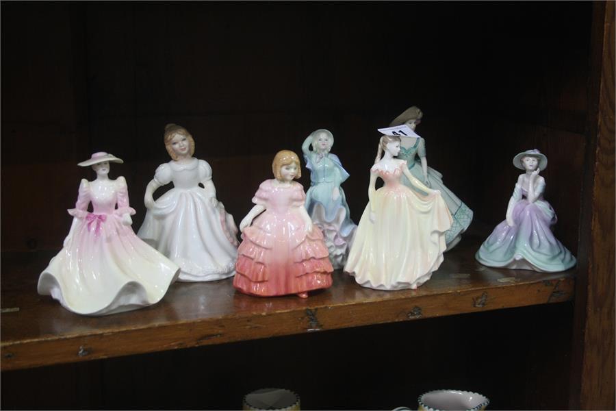 Lot 41 - Seven various figures, Royal Doulton etc.