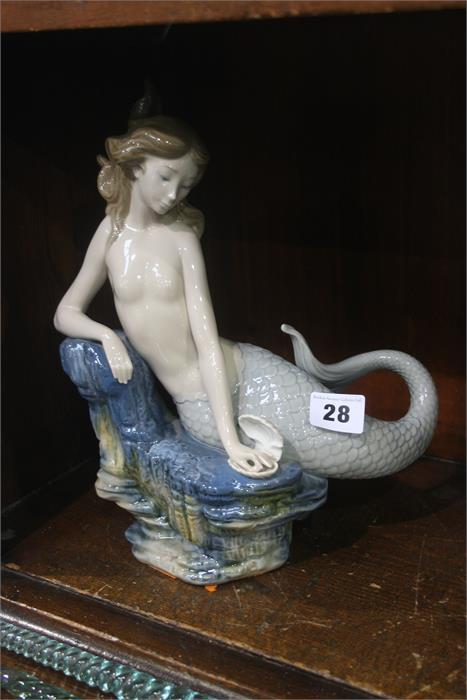 Lot 28 - Lladro figure of a mermaid