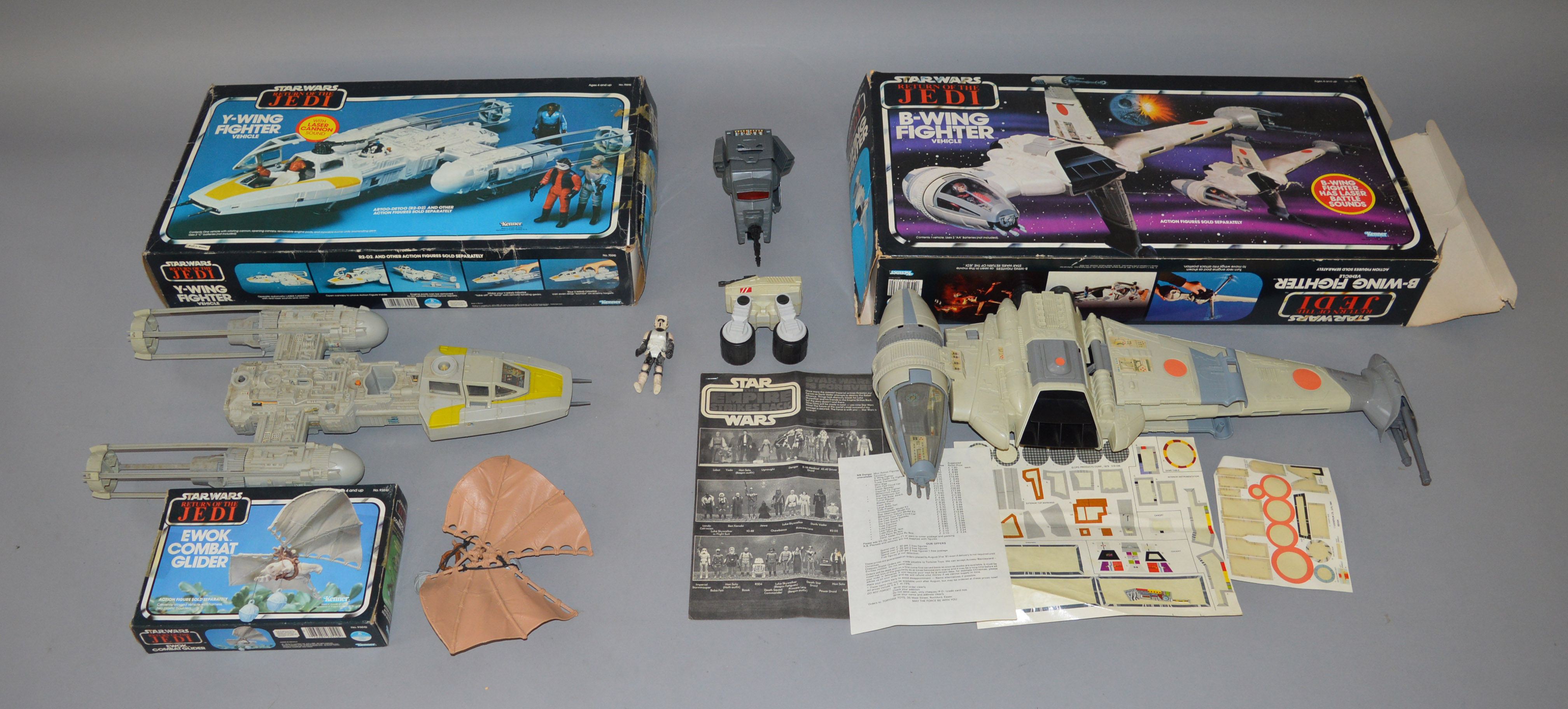 Kenner Star Wars B Wing Fighter boxed Y Wing Fighter with