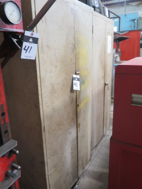 Lot 42 - Storage Cabinets (2) w/ Misc