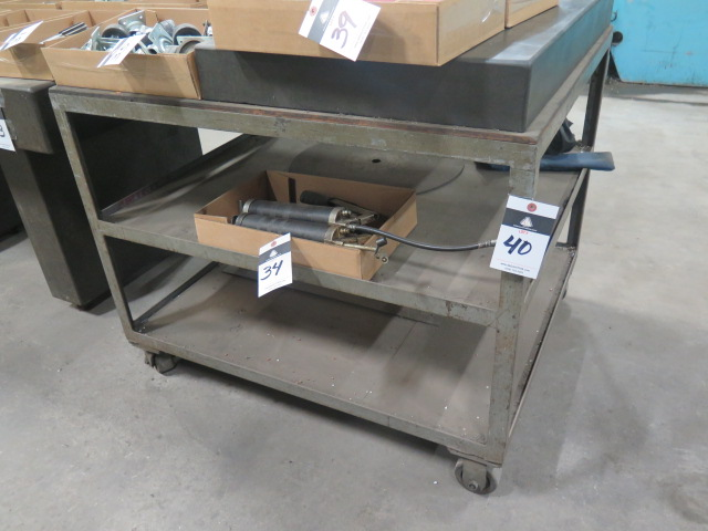 """Lot 40 - 24"""" x 36"""" x 4"""" Granite Surface Plate w/ Roll Stand"""