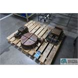 """(LOT) 15"""" TROYKE MODEL BH-15 ROTARY TABLE WTIH 8"""" AND 6"""" SWIVEL BASE VISES"""