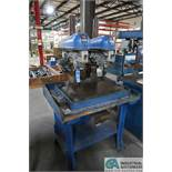 """15"""" BUFFALO TWO-SPINDLE BASE MOUNTED PRODUCTION DRILL, 14"""" X 26"""" DRILL BASE WITH BENCH"""