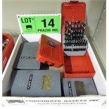 LOT/ STRAIGHT SHANK DRILL INDEX BOXES WITH DRILLS