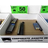 LOT/ CARBIDE INSERT BORING BARS WITH INSERTS