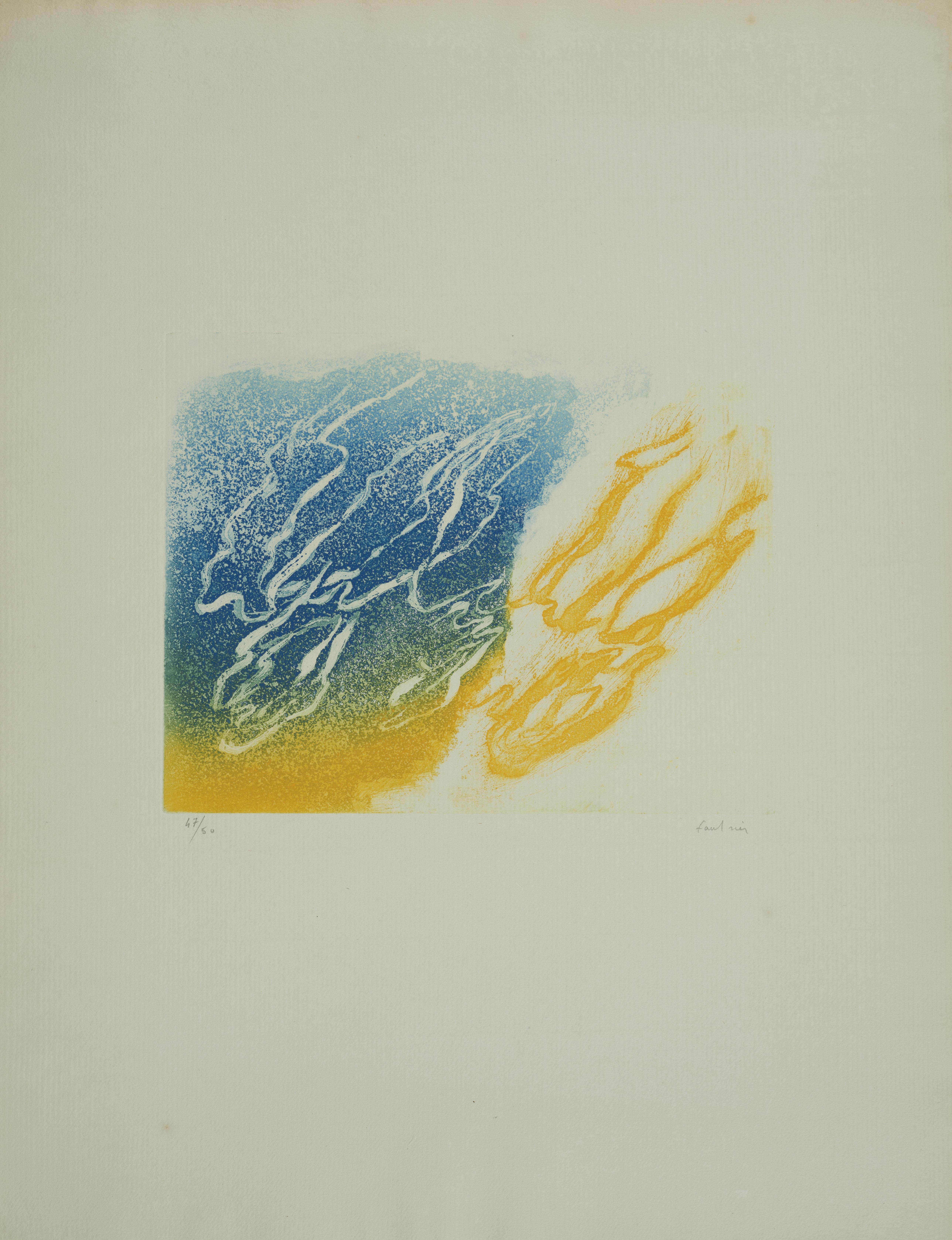 Lot 7 - Jean FAUTRIER (1898-1964) - L'Orage - Aquatinte en couleurs sur Vergé d'Auvergne [...]
