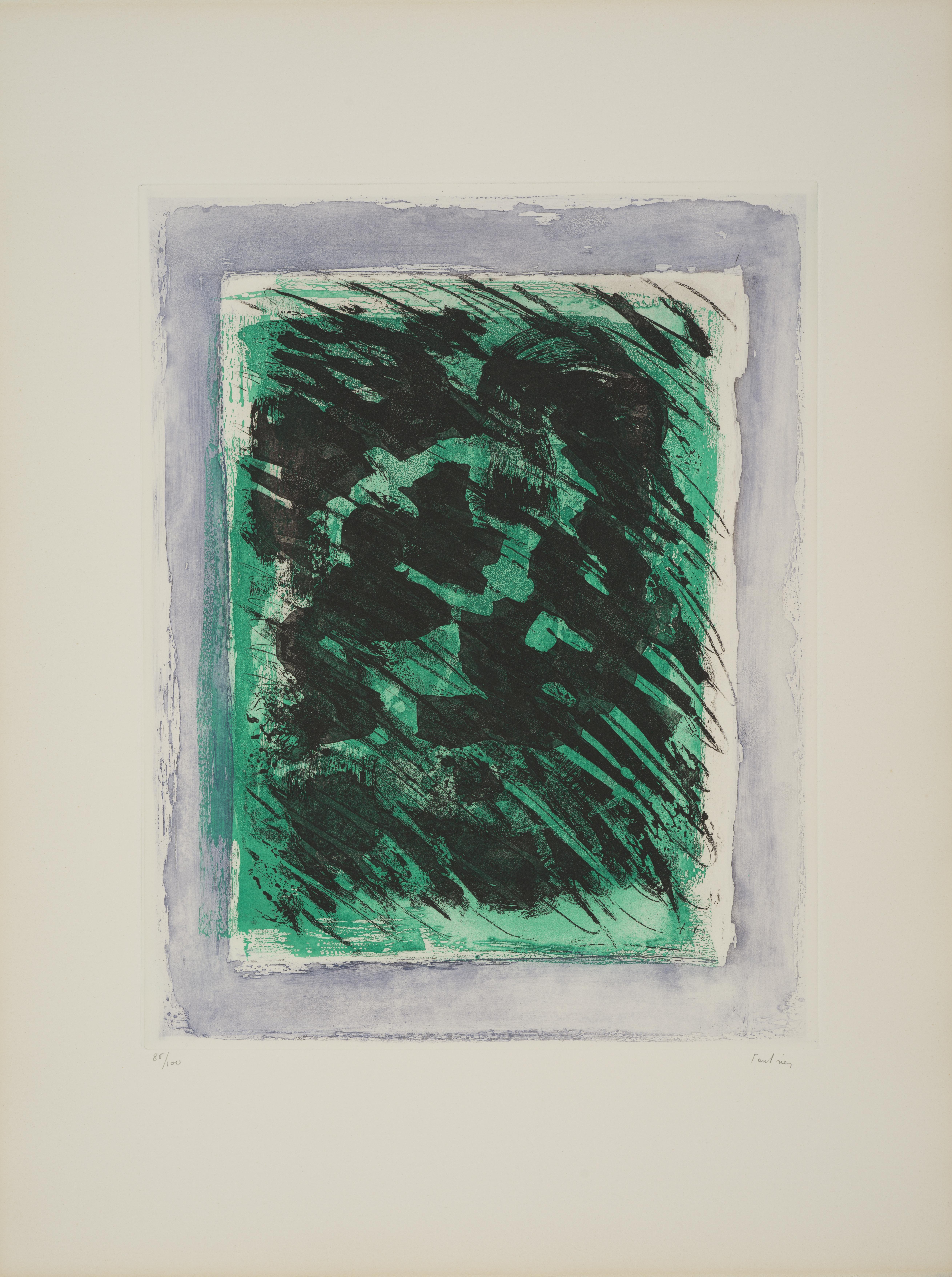 Lot 8 - Jean FAUTRIER (1898-1964) - La forêt, 1964 - Aquatinte et lavis sur vélin d'Arches, [...]