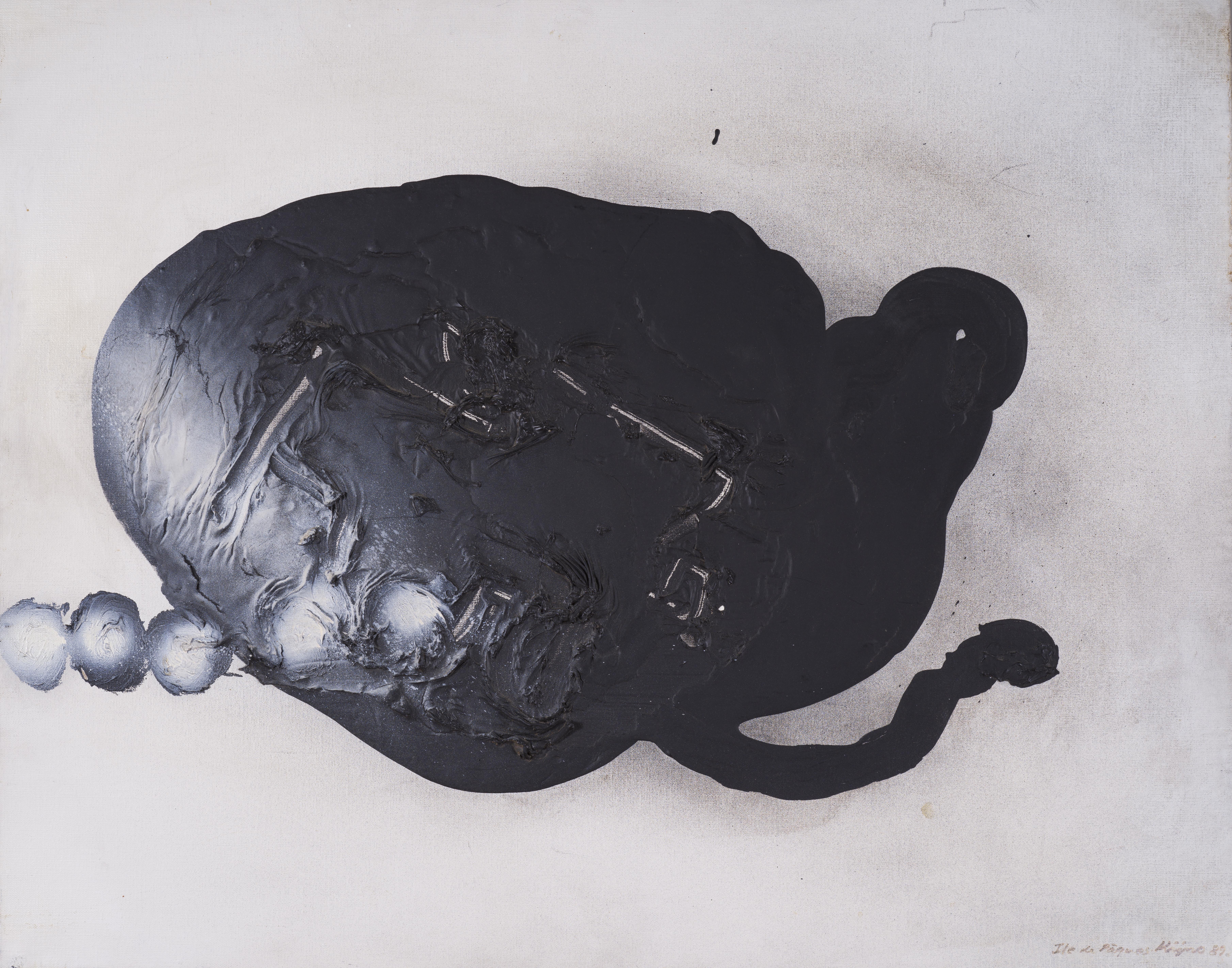 Lot 22 - Ladislas KIJNO (1921-2012) - L'Ile de de Pâques - Acrylique sur toile - Titrée, [...]