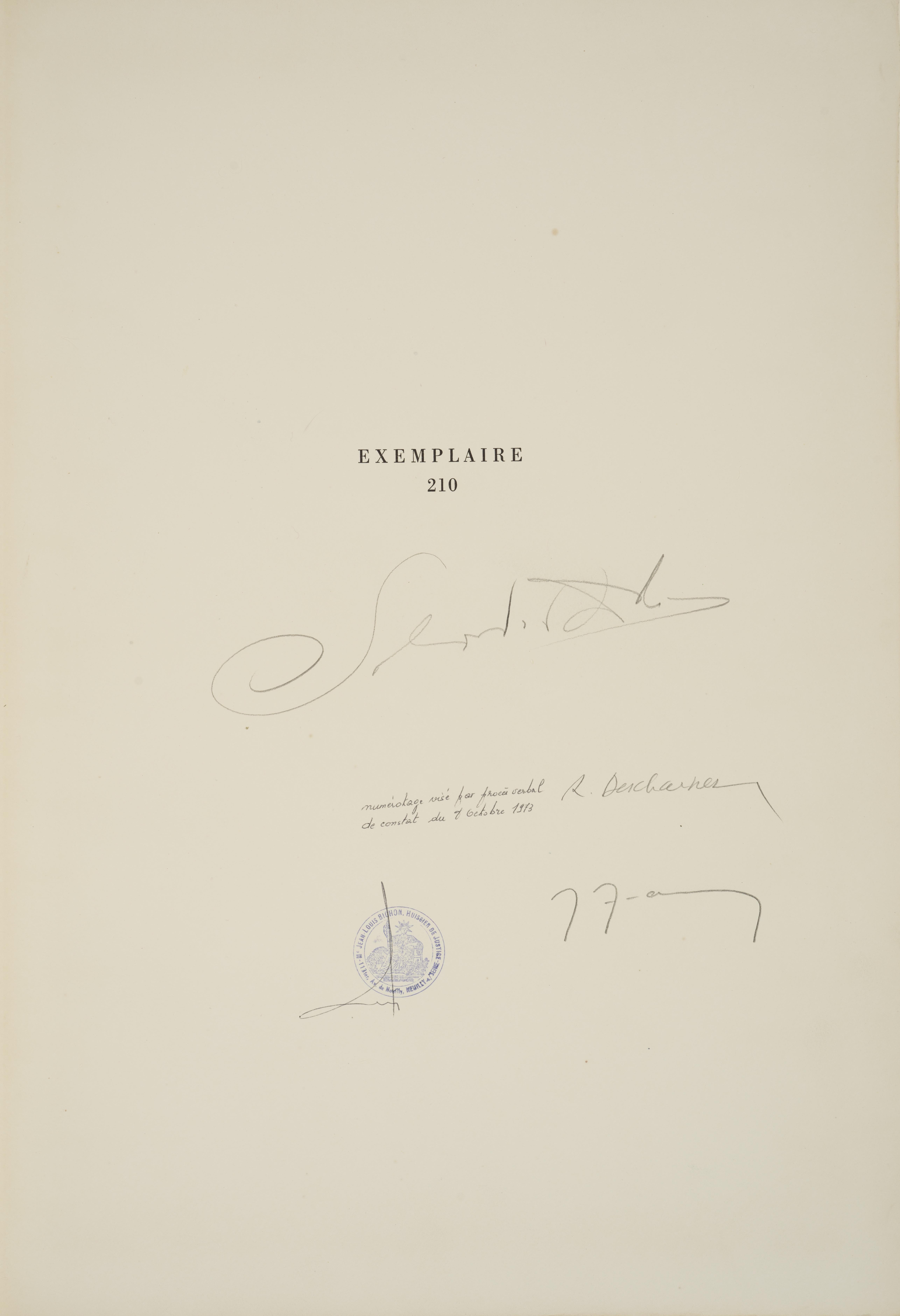 Lot 25 - Salvador DALI (1904-1989) - Dix recettes d'immortalité - Onze pointes-sèches dans [...]