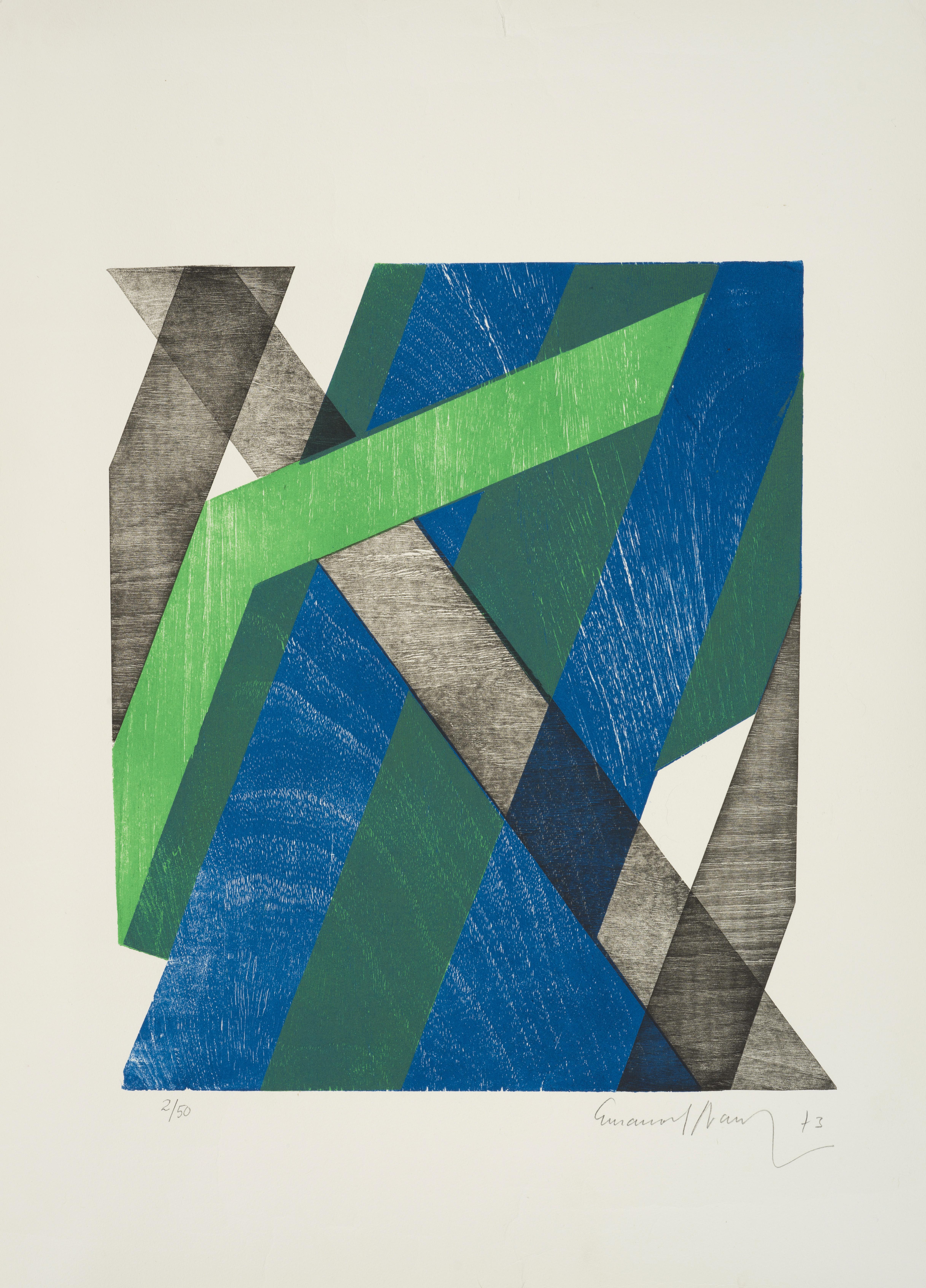 Lot 2 - Emanoel ARAUJO (1940)- Composition - Lithographie - Signée au crayon et datée [...]