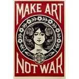 Shepard FAIREY dit OBEY (1970) - Make Art Not War - Affiche sérigraphique signée au [...]
