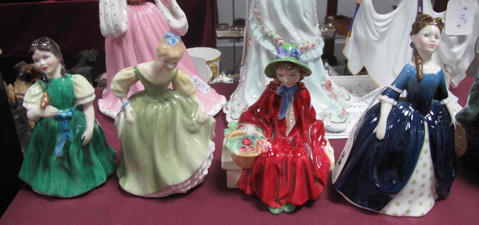 Lot 34 - Royal Doulton Figurines, 'Debbie' HN 2385 'Linda' HN 2106, 'Fair Maiden', HN 2211, 'Francine',