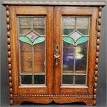 Art Nouveau Hardwood Smokers Cabinet & Contents