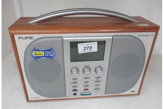 pure evoke 3 dab digital radio c w remote control no power adaptor rh the saleroom com Instruction Manual Instruction Manual Book