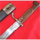 WW1 German 98/05 S 'sawback' Pattern Bayonet, with Scabbard by V. C. Schilling dated 1911