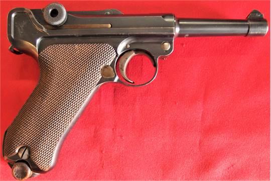 Finnish P08 Luger Pistol– 9mm Calibre  1908 Model, serial