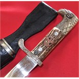 WW2 German Police parade bayonet with matching scabbard by Carl Eikhorn