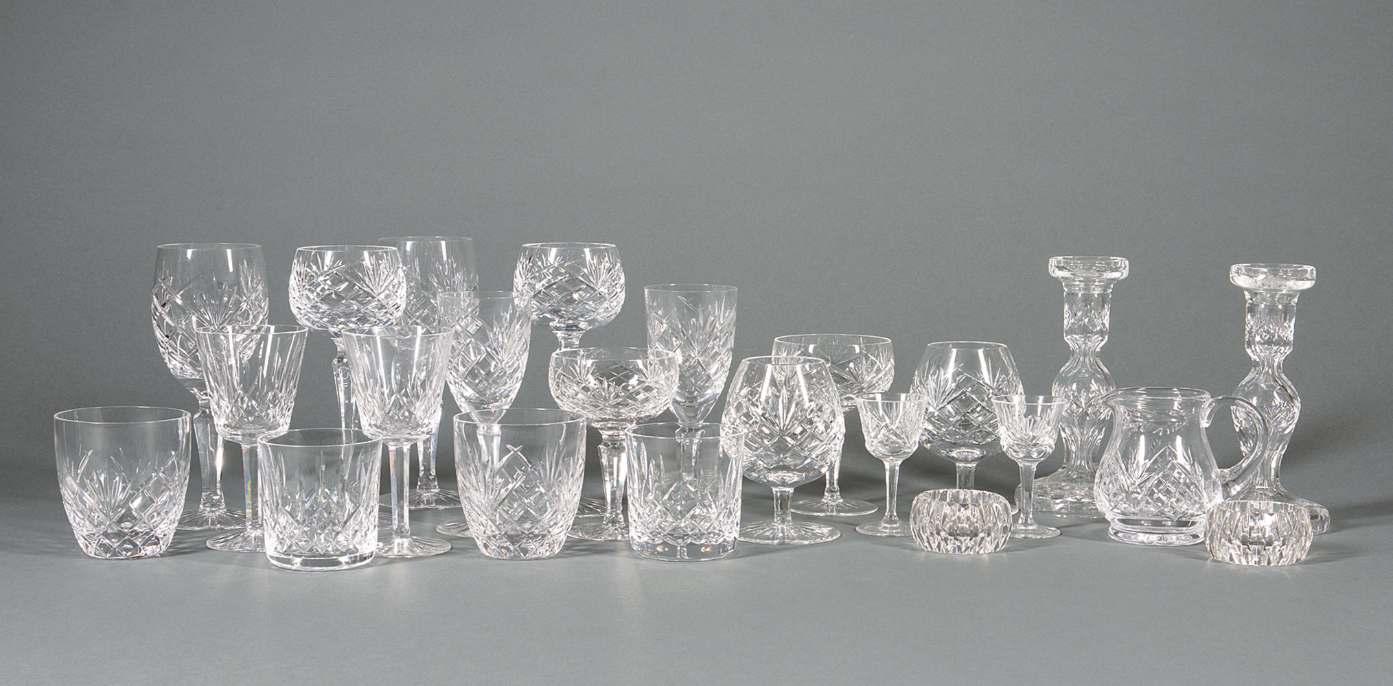 """Lot 766 - Assembled Set of Waterford """"Lismore"""", Galway """"Ashford"""", Tipperary """"Slievenamon"""" and Wedgwood """""""