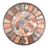 "Antique Italian Specimen Marble Table Top , late 19th c., underside signed ""Orlandi Aristide/"