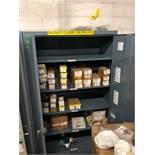 Metal Cabinet Dark Grey, 5 shelves, keyed in handle, 47.5W, 2ft D, 78 H