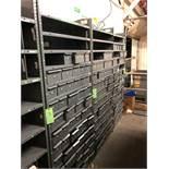 Metal Shelving with Dividable Bins, 14 Shelves, 85H, 36W, 12D
