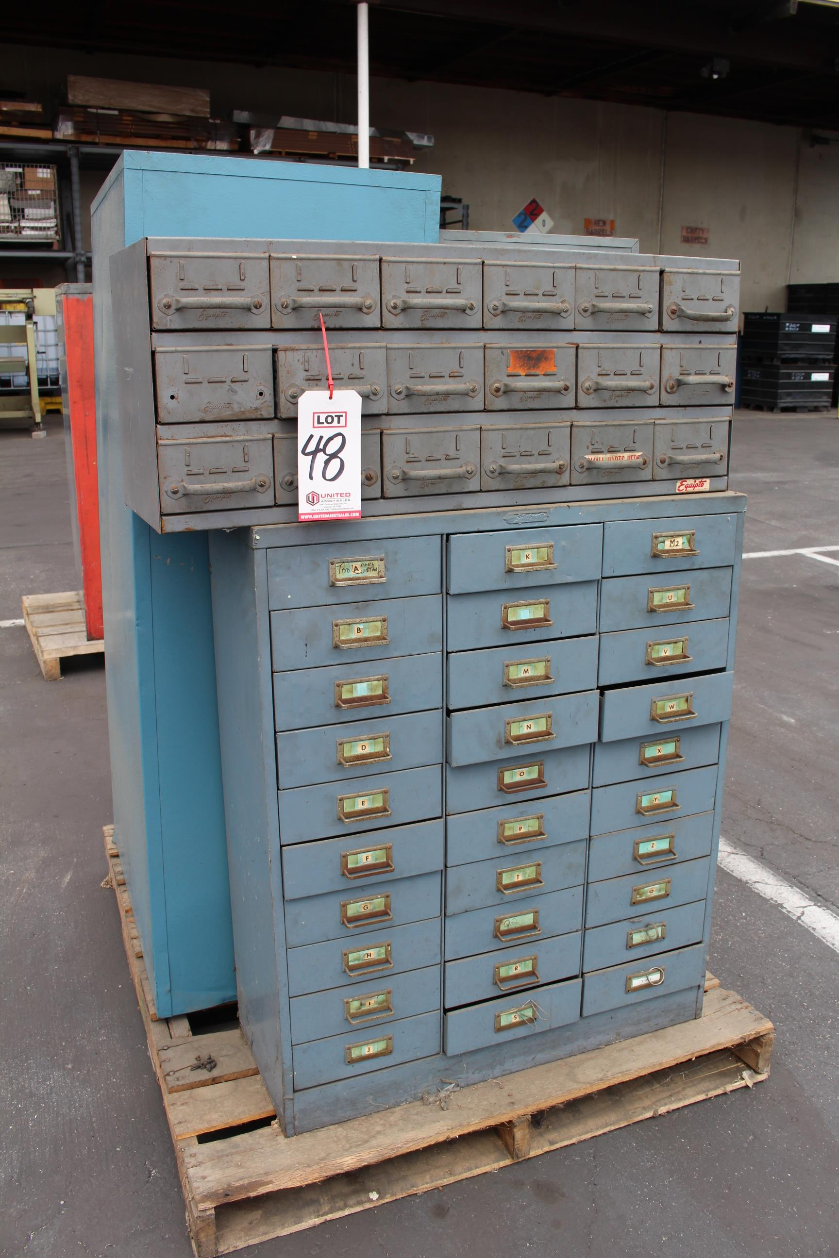 LOT - (4) PARTS CABINETS