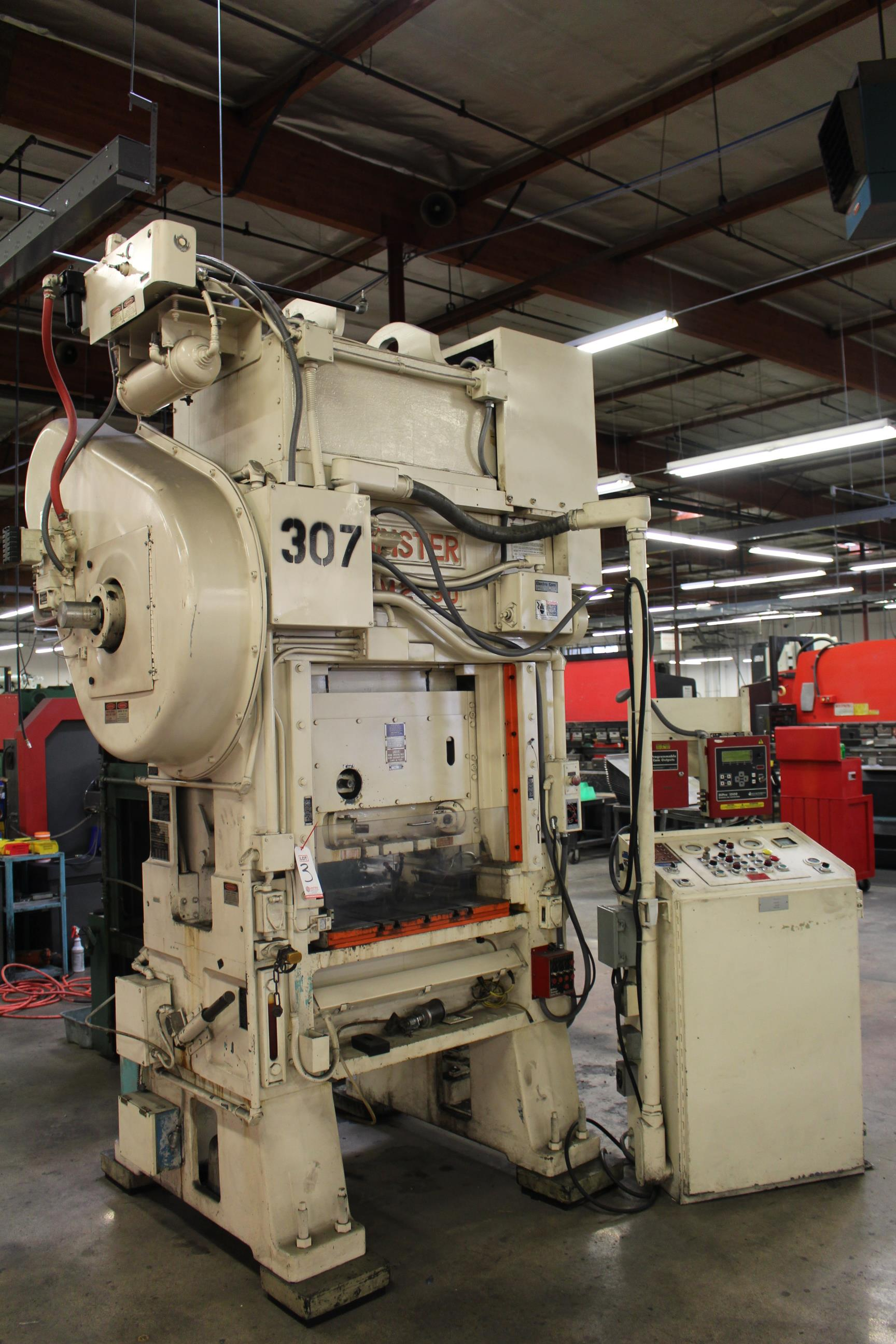 "MINSTER MODEL PM2-30-30 HIGH SPEED PUNCH PRESS, 30 TON CAPACITY, 30"" X 20"" BOLSTER, 0-1,000 SPM, 1- - Image 2 of 18"