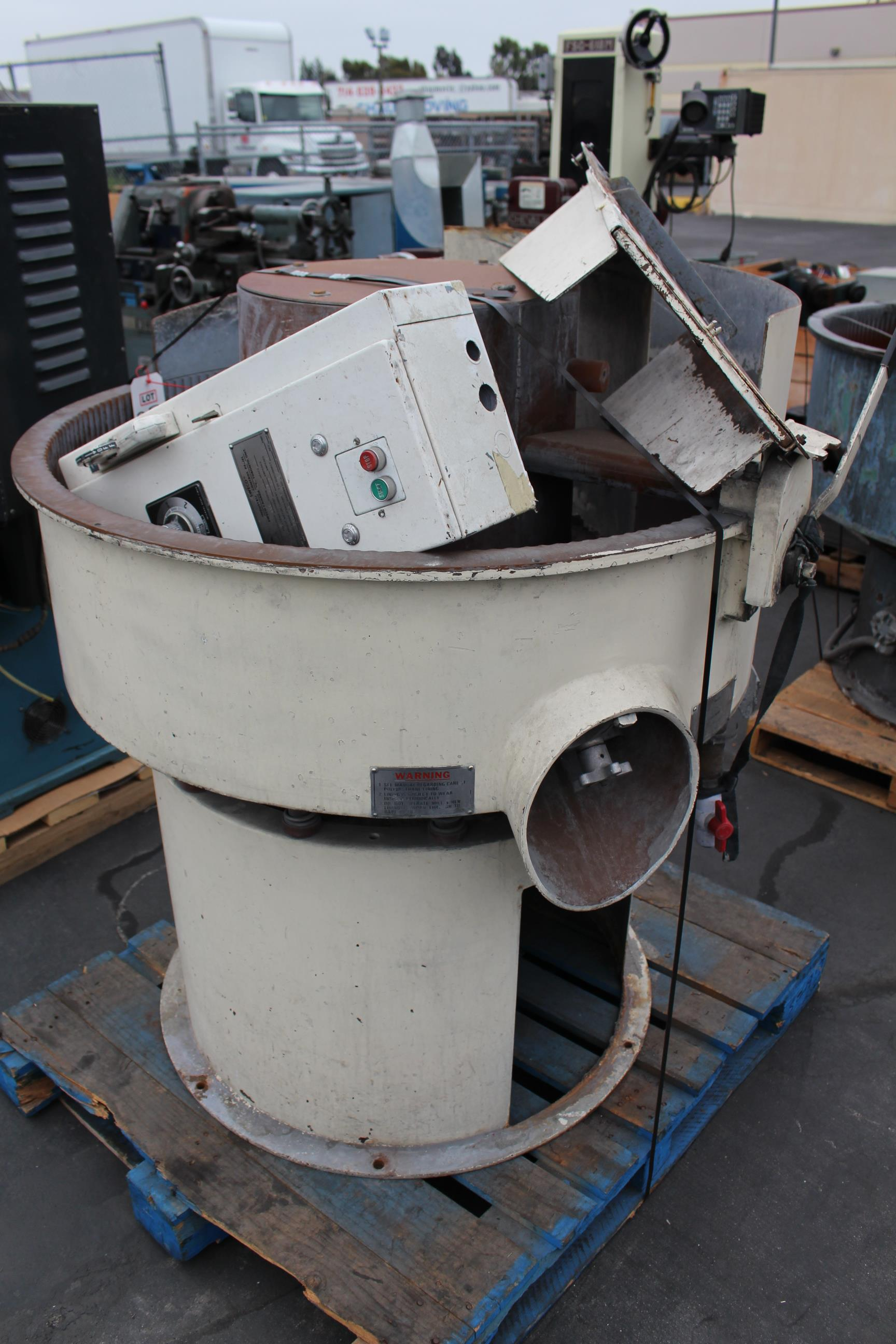 "SWECO FINISHING MILL, 36"" BOWL - Image 2 of 4"