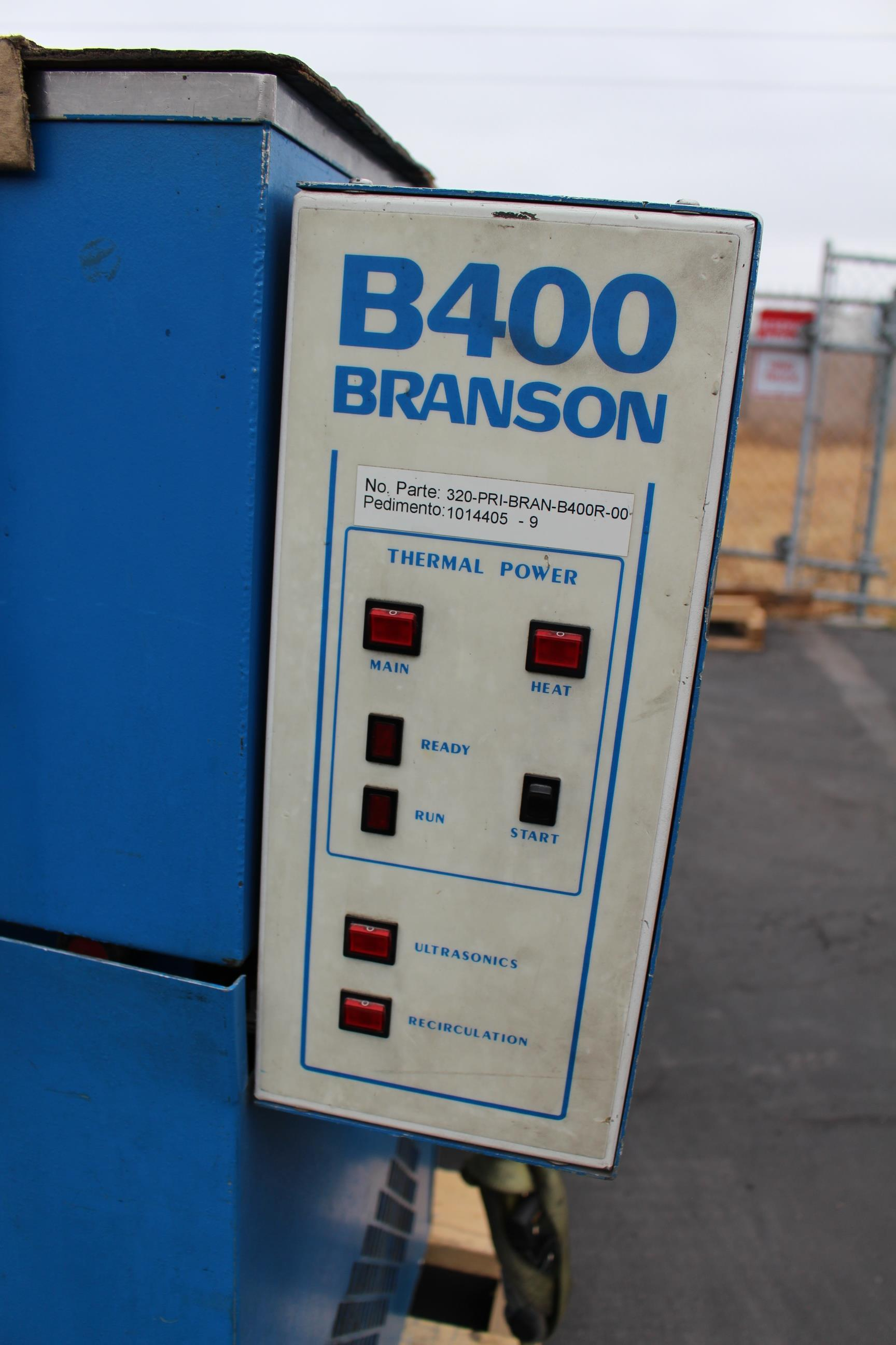 Lot 25 - BRANSON ULTRASONIC CLEANER, MODEL B-400R, S/N 6-2308-88