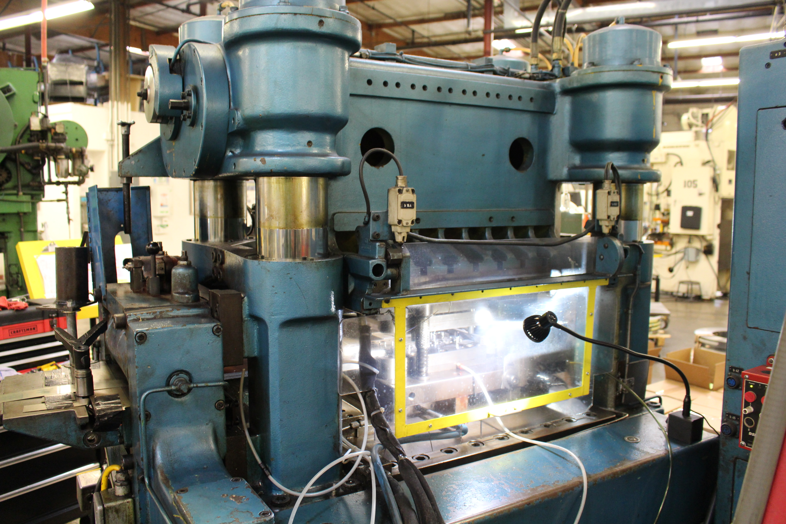 BRUDERER MODEL BSTA-60H HIGH SPEED STAMPING PRESS, 60-TON, DIE PRO 1500 WINTRISS DIE PROTECTION, 4 - Image 12 of 20