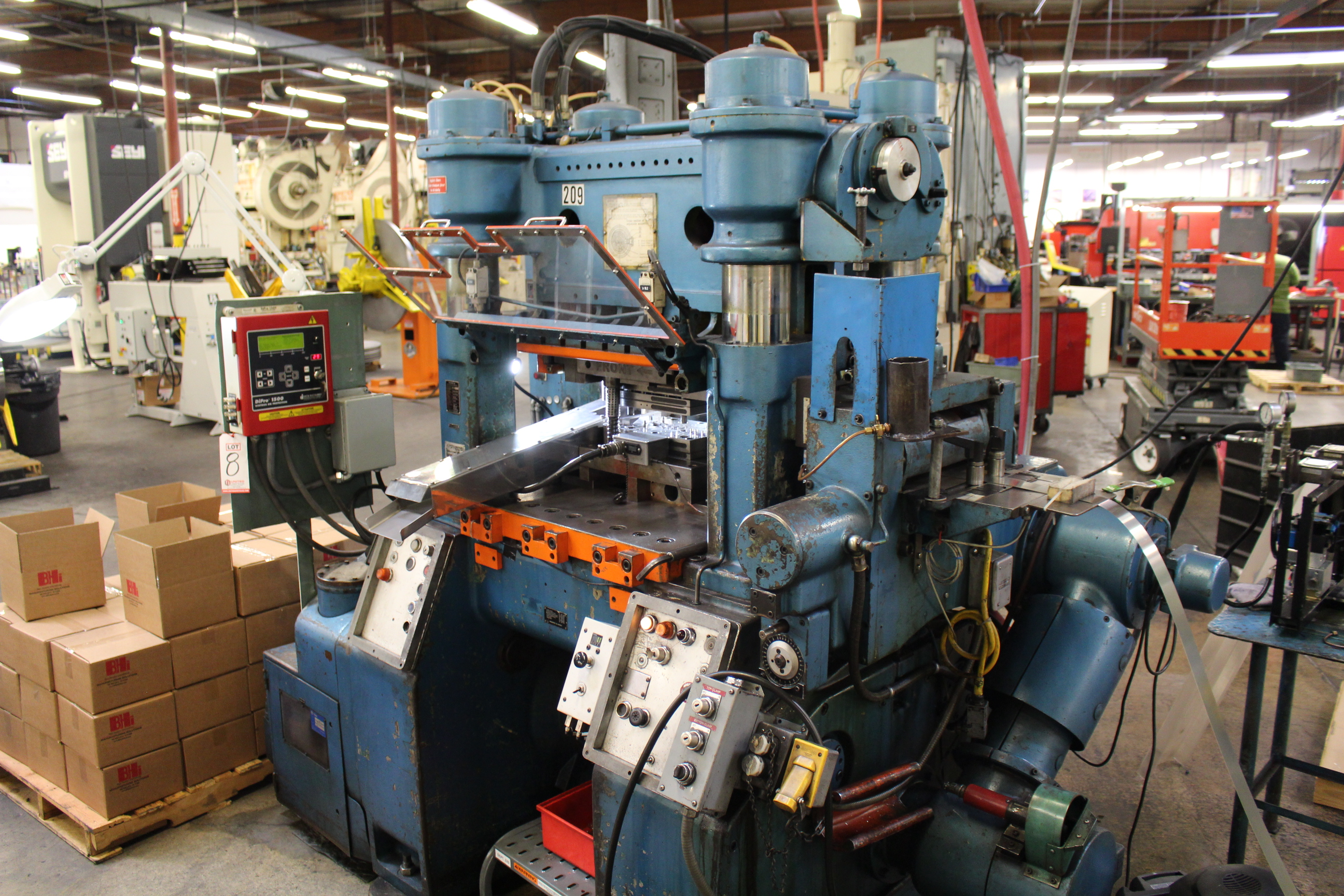BRUDERER MODEL BSTA-60H HIGH SPEED STAMPING PRESS, 60-TON, DIE PRO 1500 WINTRISS DIE PROTECTION, 4 - Image 2 of 20