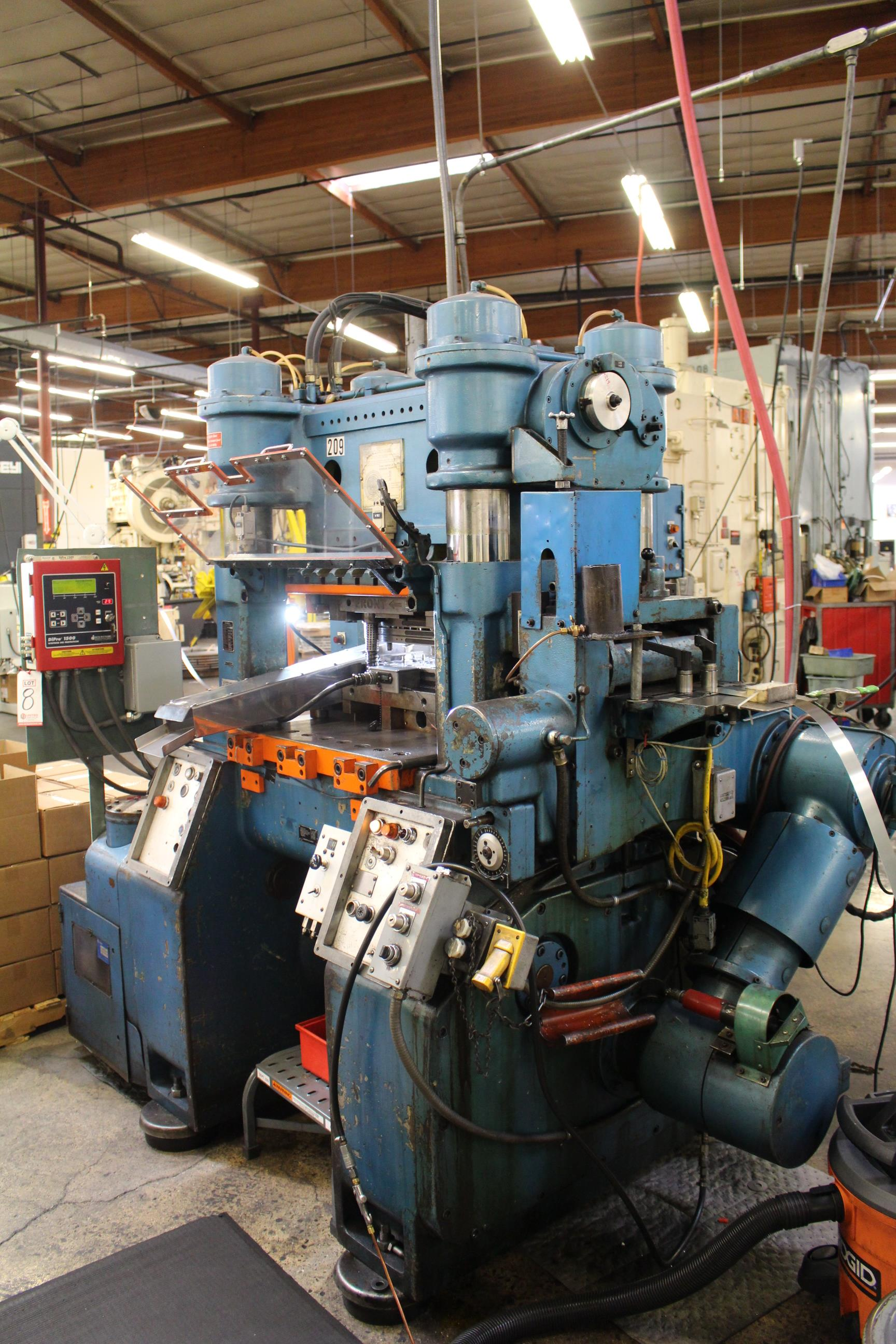 BRUDERER MODEL BSTA-60H HIGH SPEED STAMPING PRESS, 60-TON, DIE PRO 1500 WINTRISS DIE PROTECTION, 4 - Image 3 of 20