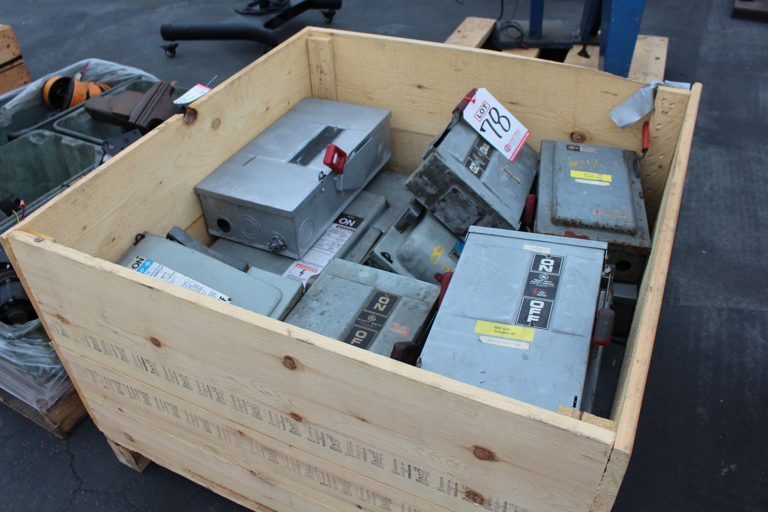 Lot 78 - CRATE OF ELECTRICAL BOXES