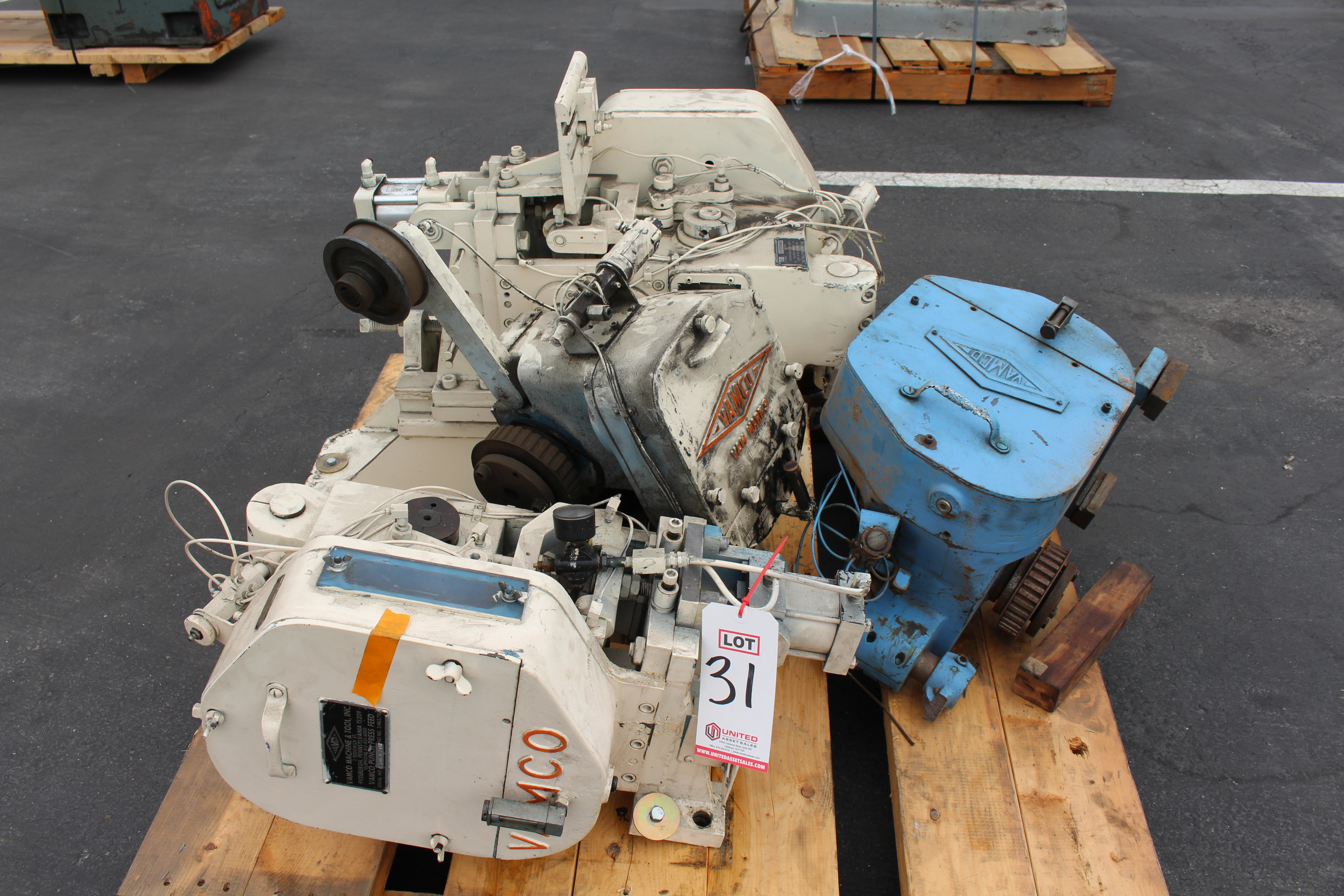 Lot 31 - (4) VAMCO PUNCH PRESS FEEDERS ON PALLET