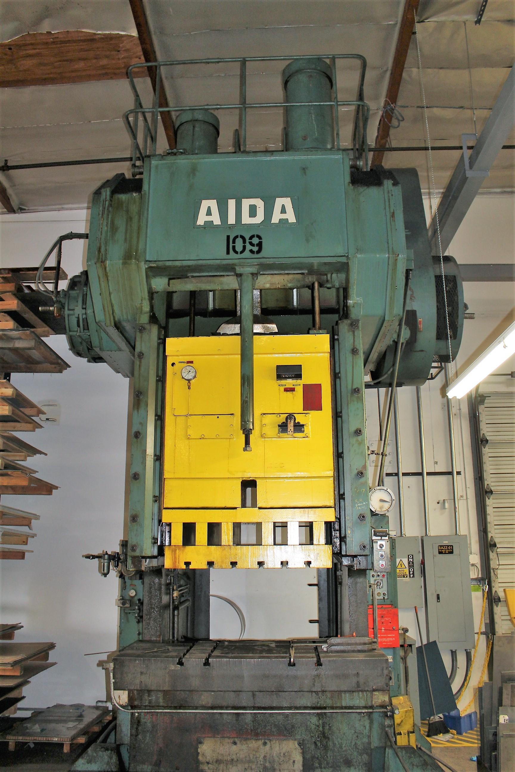"""AIDA MODEL PC-30 PUNCH PRESS, 300 TON CAPACITY,AIR CUSHION, 15.7"""" STROKE, 30 SPM, 70"""" X 30"""""""