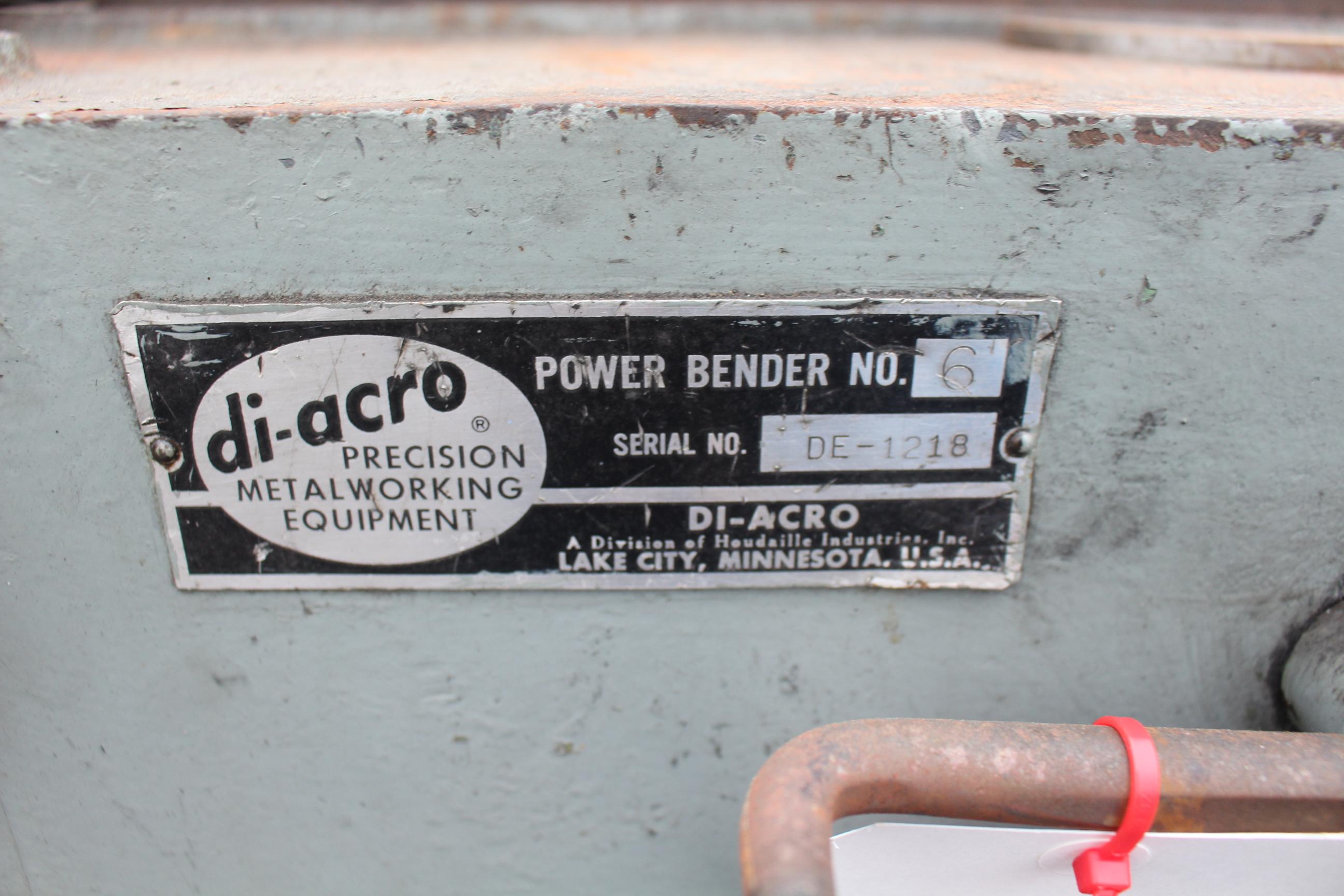 DI-ACRO #6 POWER BENDER, S/N DE-1218 - Image 5 of 5