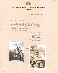 Lot 139 - Letter from Wing Commander John Lloyd Waddy OBE DFC US Air Medal RAAF. Desert Air War ace with 15