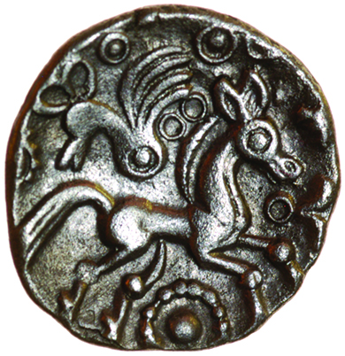 Lot 40 - Whaddon Bird. c.55-45 BC. Celtic silver unit. 13mm. 1.16g.