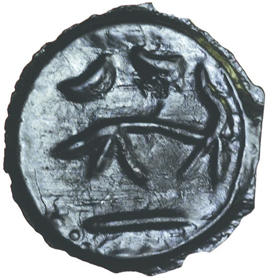 Thin Striations Left. Holman C3/1-2d.c.105-90 BC. Celtic potin unit. 18mm. 2.44g. - Image 2 of 2