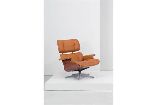 A lounge chair by c. & r. eames poltrona icf anni 70