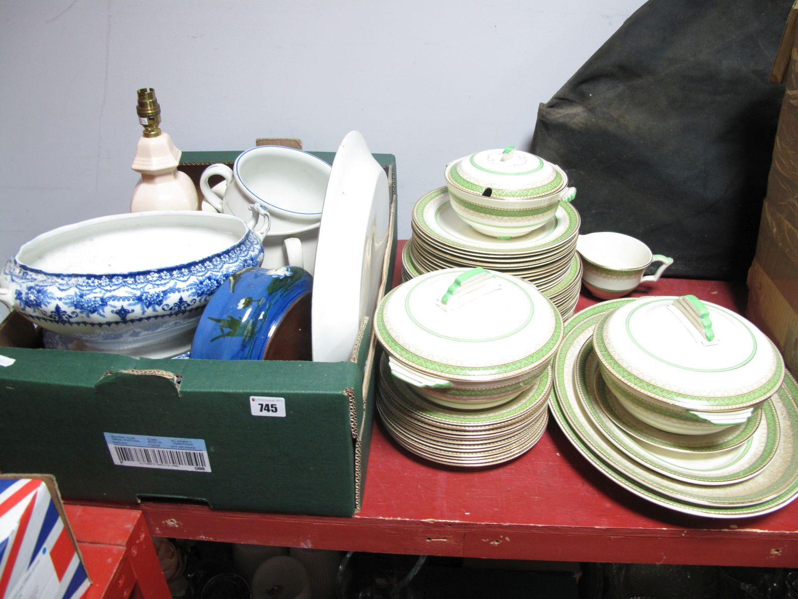Lot 745 - A Circa 1920's/30's Crown Devon Part Dinner Service, over 40 pieces, dinner plates, side plates,