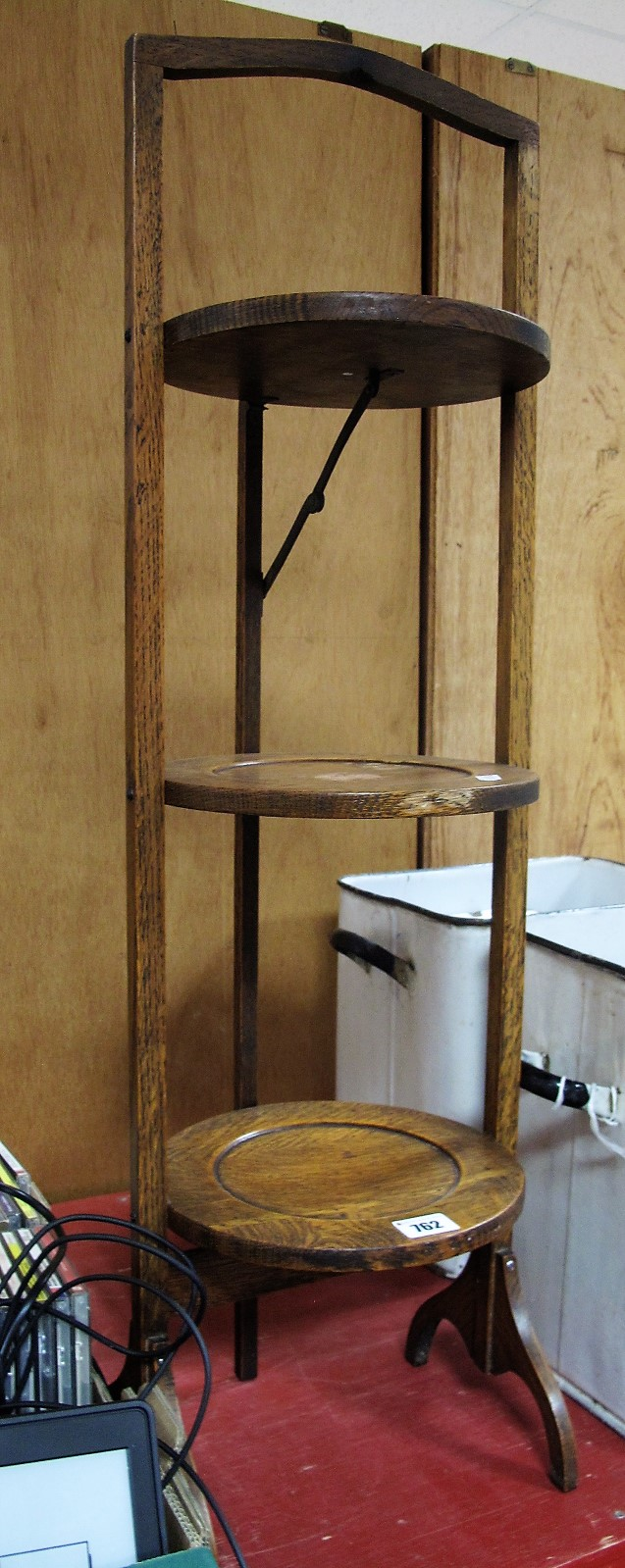 Lot 762 - A 1920's Three Tier Folding Cakestand